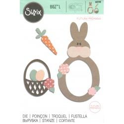 Sizzix Bigz Die - Coniglio e cesto di Pasqua