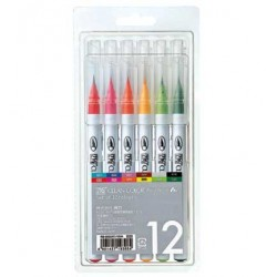 Set colori Zig real brush 12pz