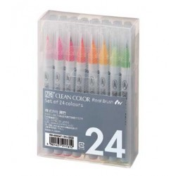 Set colori Zig Clean color real brush 24pz