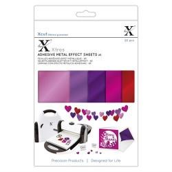 Xcut Xtras' A5 Adhesive Metal Effect Sheets - 20 Fogli adesivi Foil Rosa A5