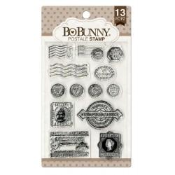 Set di timbri Bo Bunny - Postale stamps 13pz