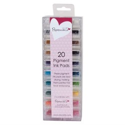 Mini Ink Pads Pigment (20pz) - Colori assortiti