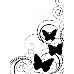 Embossing Template Darice Butterfly Swirl