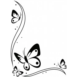 Embossing Template Darice Butterfly in corner