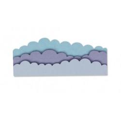 Sizzix Thinlits Die Set 3PK - Cloudscape - Paesaggio con Nuvole