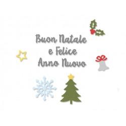Sizzix Thinlits Die - Auguri di Natale
