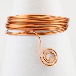 Filo di Alluminio 1,5mm x5mt Rame - Aluminium Wire Orange Copper