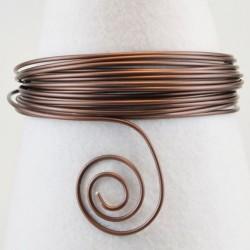 Filo di Alluminio 1,5mm x5mt Cioccolato opaco - Aluminium Wire Chocolate mat