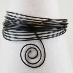 Filo di Alluminio 1,5mm x5mt Nero - Aluminium Wire Black