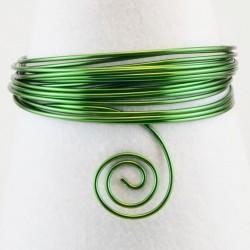 Filo di Alluminio 1,5mm x5mt Verde scuro- Aluminium Wire Dark Green