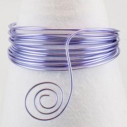 Filo di Alluminio 1,5mm x5mt Lilla- Aluminium Wire Soft Lilac