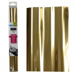 Tessuto termoadesivo - Hotfix A4 metallic gold