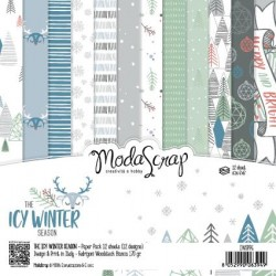 Paper pack Modascrap THE ICY WINTER SEASON 15x15cm