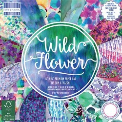 """First edition Paper pad WILD FLOWER 6""""x6"""""""