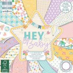 """First edition Paper pad HEY BABY 6""""x6"""""""