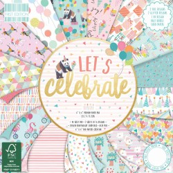 """First edition Paper pad LETS CELEBRATE 6""""x6"""""""