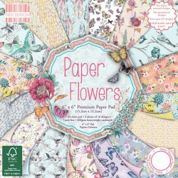"""First edition Paper pad PAPER FLOWERS 6""""x6"""""""