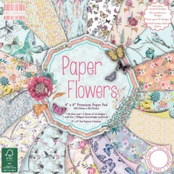 """First edition Paper pad PAPER FLOWERS 8""""x8"""""""