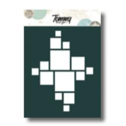Stencil Tommy Design A6 - Quadrati