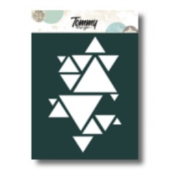 Stencil Tommy Design A6 - Triangoli