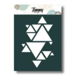 Stencil Tommy Design A6 - Triangoli