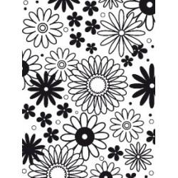 Embossing Template Darice flower freny