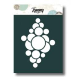 Stencil Tommy Design A6 - Cerchi