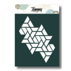Stencil Tommy Design A6 - Trama triangoli