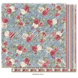 """Carta Maja Design 12""""x12"""" Christmas Season - Winter Roses"""