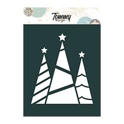 Stencil Tommy Design A6 - Fiori Pom pon