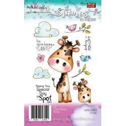 Timbri Polkadoodles Having A Giraffe Clear Stamps