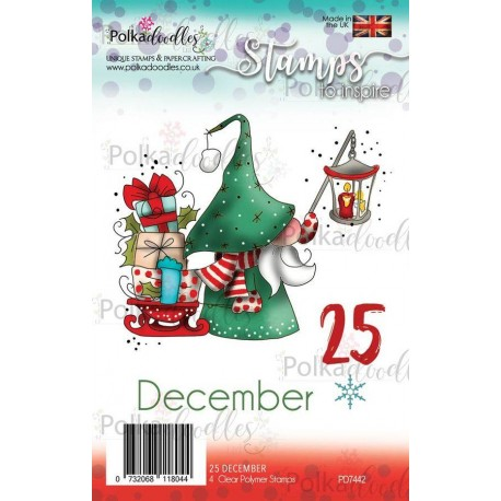 Timbri Polkadoodles Gnome 25 December Clear Stamps