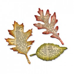 Sizzix Bigz Die - Tattered Leaves