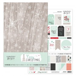 Kit Carte Florileges Design COSY CHRISTMAS