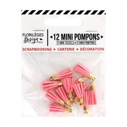 Mini Pompons ROSE THÉ Florileges Design - Mini Tasselli