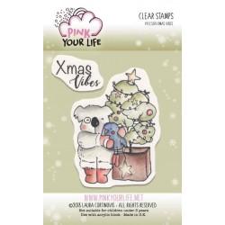 Set timbri Pink Your Life - I Colori di Laura -  Xmas Vibes