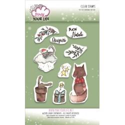 Set timbri Pink Your Life - I Colori di Laura -  Christmas Critters
