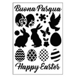 Stencil Tommy Art A4 - Buona Pasqua
