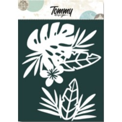 Maschera Tommy Design A5 - Foglie tropicali
