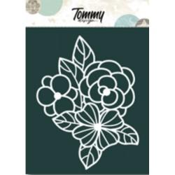 Maschera Tommy Design A5 - Fiori
