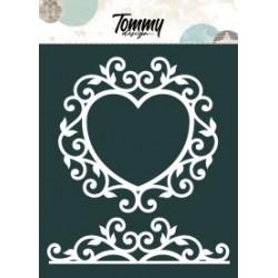 Maschera Tommy Design A5 - Cuore con Intrecci