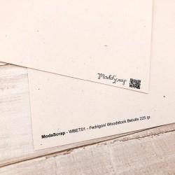 1 Foglio Cartoncino MODASCRAP - WOODSTOCK BETULLA 30,5x30,5cm
