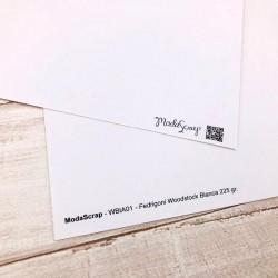 1 Foglio Cartoncino MODASCRAP - WOODSTOCK BIANCA 30,5x30,5cm