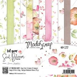 Paper pack Modascrap Let Your Soul Bloom 15x15cm