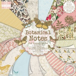 "First edition Paper pad botanical notes 8""x8"""