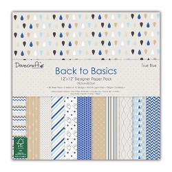 "Dovecraft back to basics true blue 12""x12"""