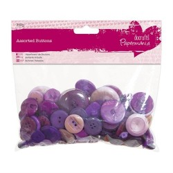 Bottoni assortiti, 250gr - Purple