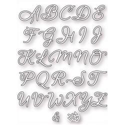 Fustelle la coppia creativa alfabeto corsivo maiuscolo