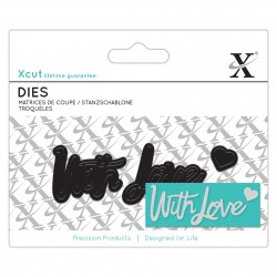 XCUT Mini Sentiment Die (3pz) - With Love