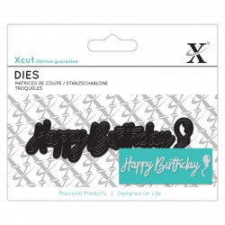 XCUT Mini Sentiment Die (3pz) - Happy Birthday